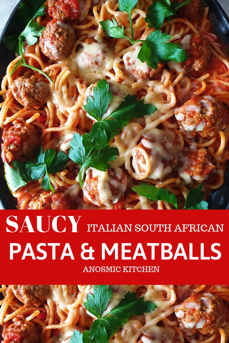 saucy meatball pasta