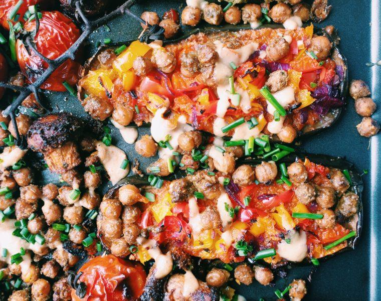Vegetarian Eggplant Slices