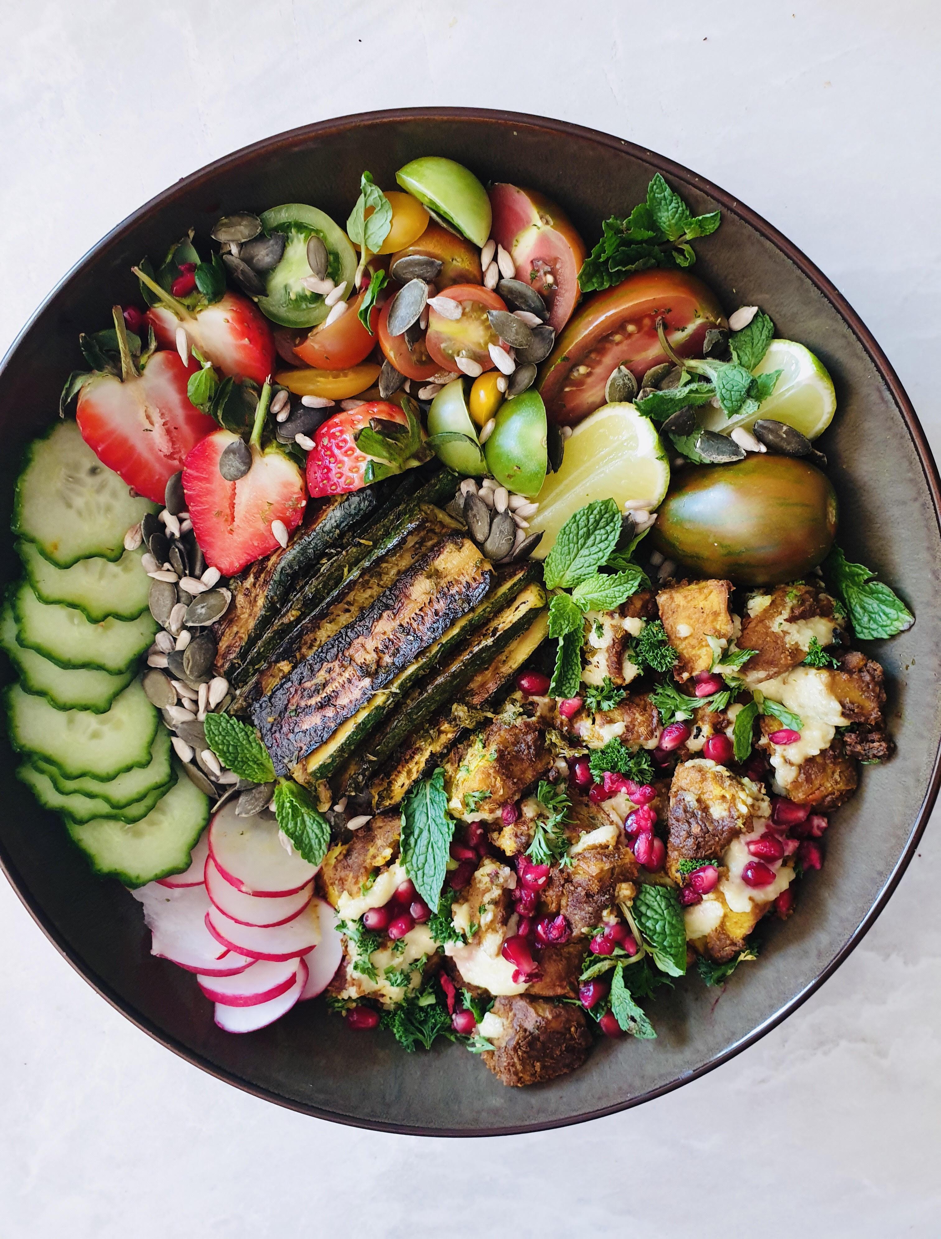 Healthy Zucchini Sweet Potato Nourishing Bowl