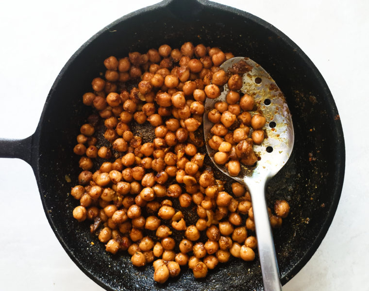 Crunchy Spicy Roasted Chickpeas + Video